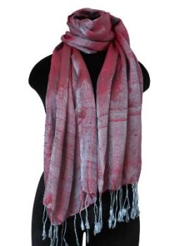 soft pink and grey Silk Scarf