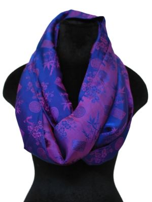 Purple and Blue Infinity Scarf