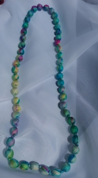 bright silk beaded necklace
