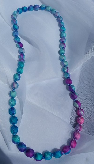 Silk Beaded Necklaces