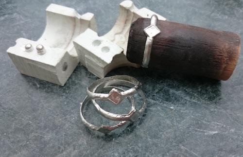 Billingsgate Ring, square bezel