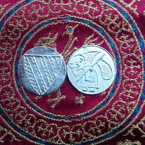 Token: Pilgrim and Shield