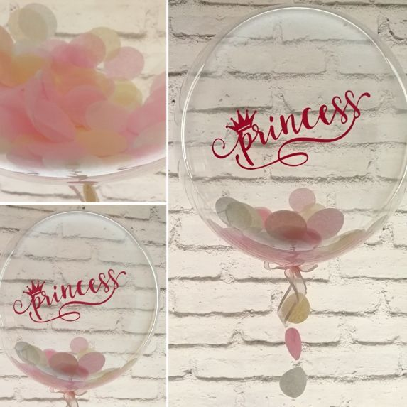 Inflated Princess confetti balloon