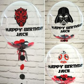 Inflated Darth Vader confetti balloon