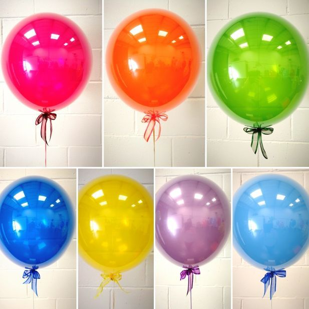 Inflated colour balloon in a box from £19.99