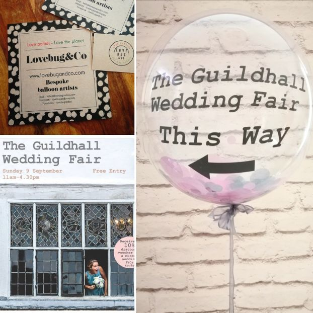 Guildhall wedding fair confetti balloons