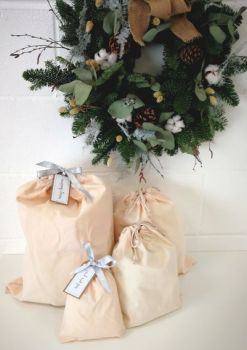 100% cotton gift Santa sacks