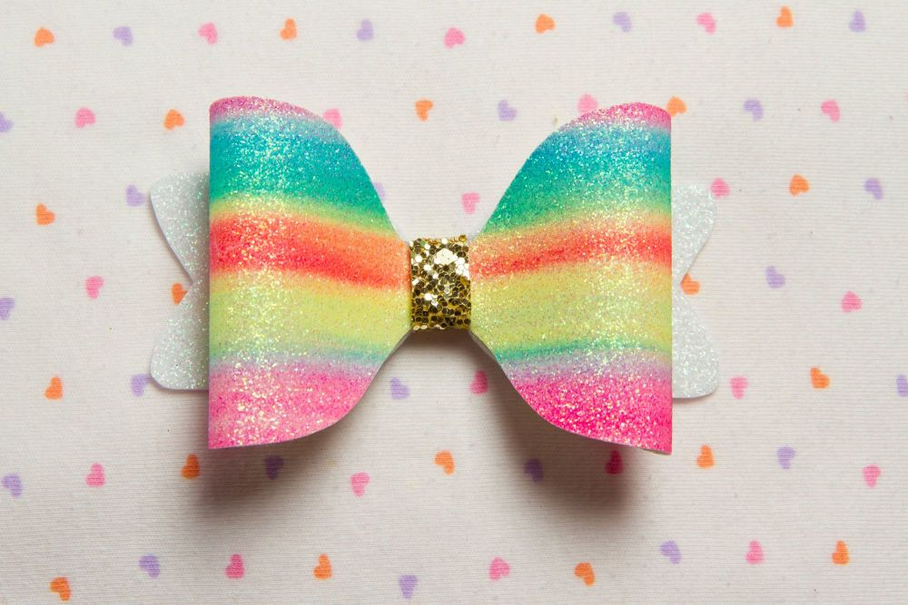 Rainbow Bright Bow