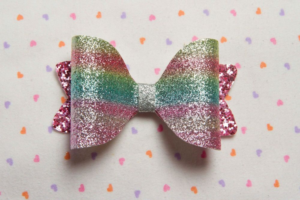Rainbow Pastel Bow