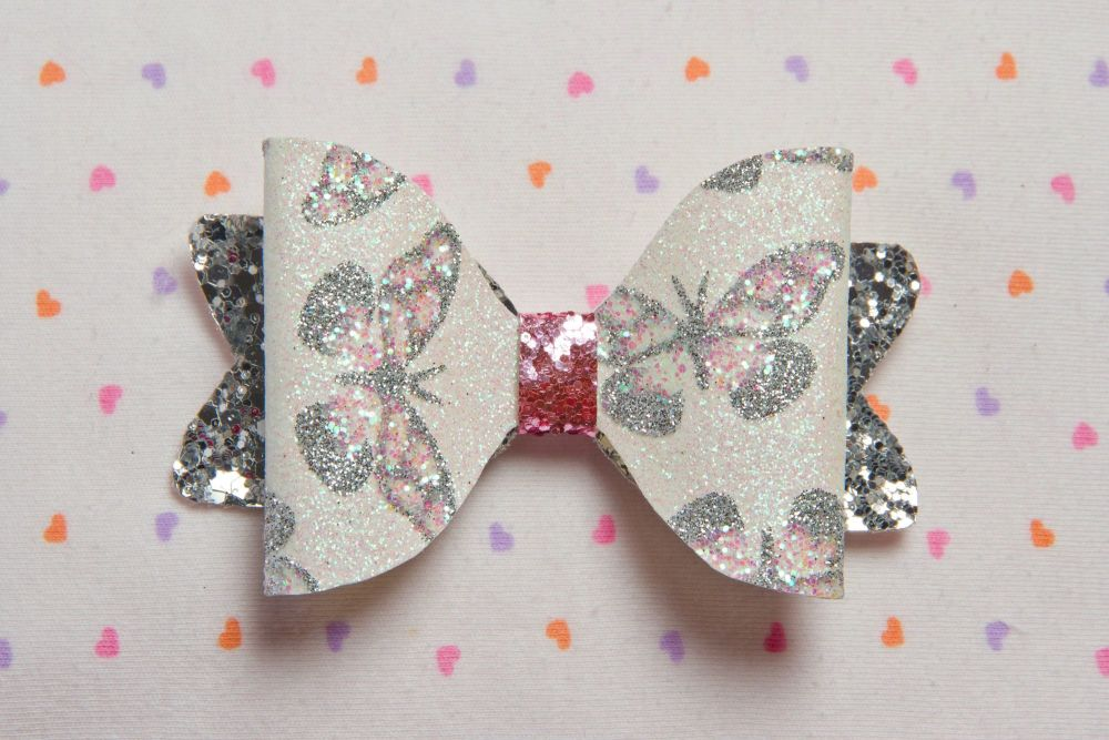 Butterfly Print Bow