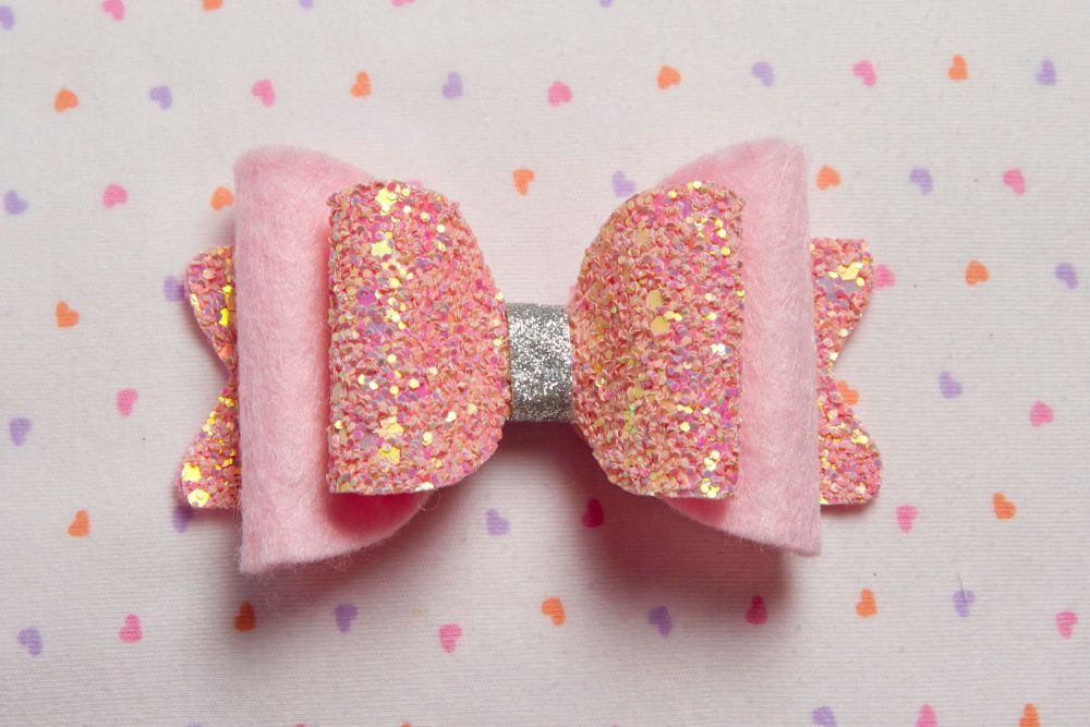 Pink Multitoned Glitter with Felt