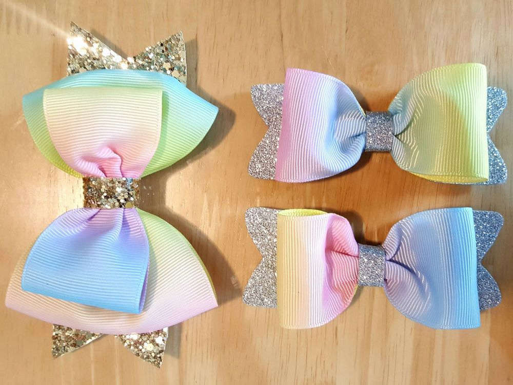 Rainbow Ribbon Glitter Set