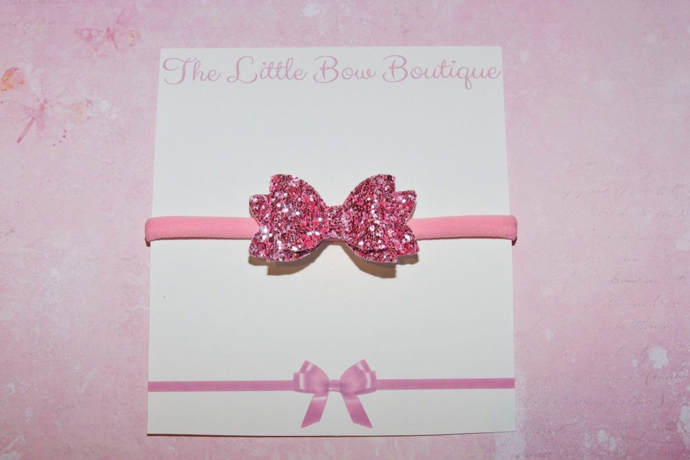 All Pink All Glitter Baby Bow