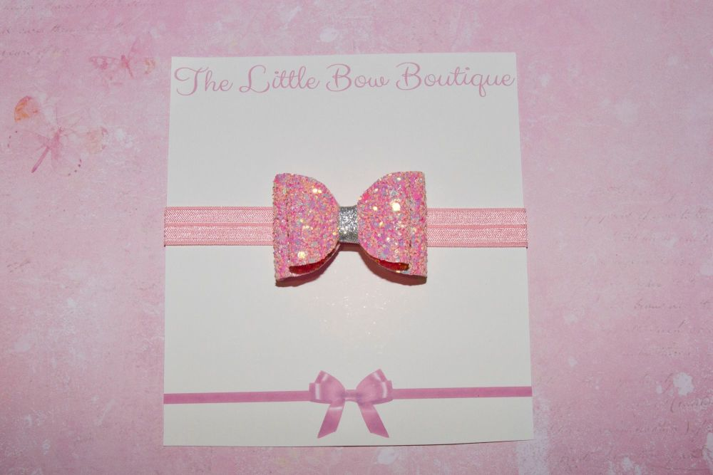 Iridescent Multi Toned Pink Baby Bow