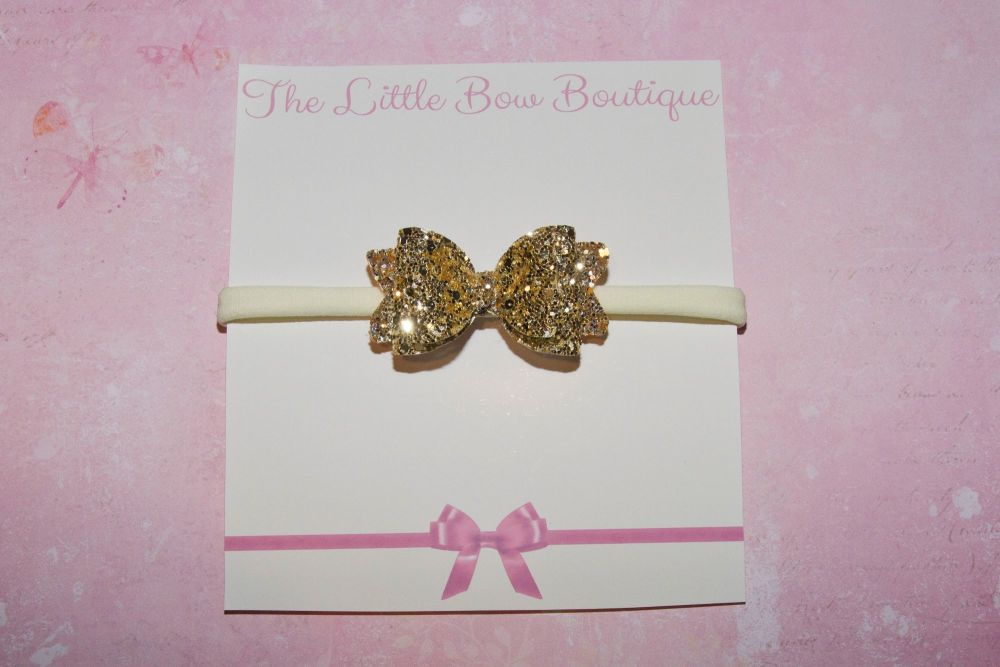 All Gold All Glitter Baby Bow