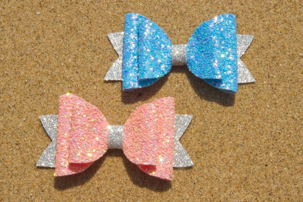 Iridescent Multi Toned Bows – Set of 2