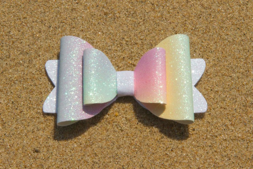 Pastel Ombre Rainbow Bow