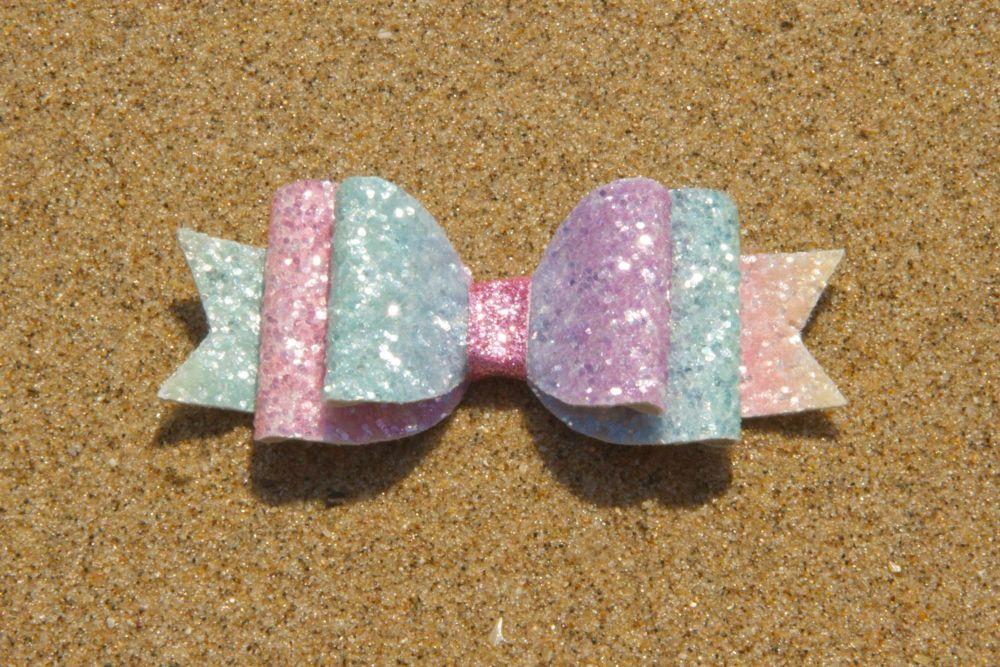 Pastel Sugar Effect Rainbow Bow