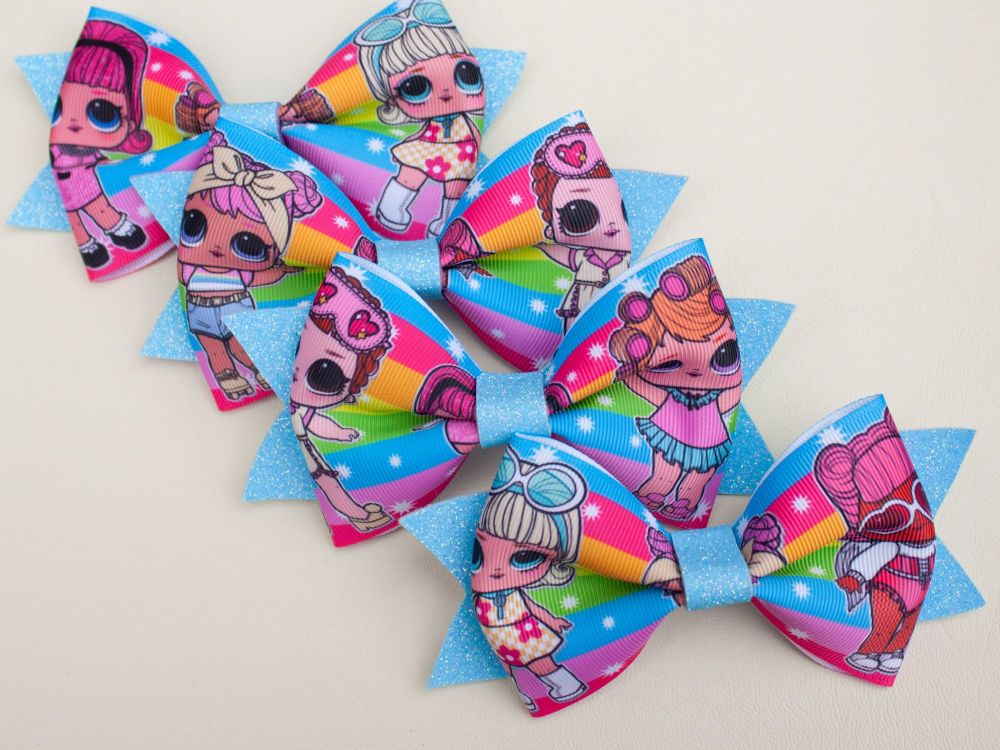LOL Inspired Bow - Rainbow Style
