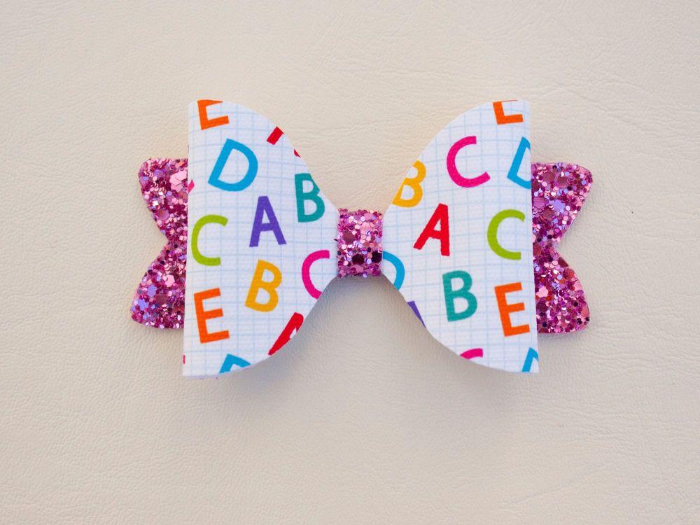 ABC's School Theme Bow