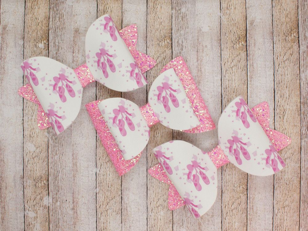 Pink Pointe Shoes Bows – 2 Options