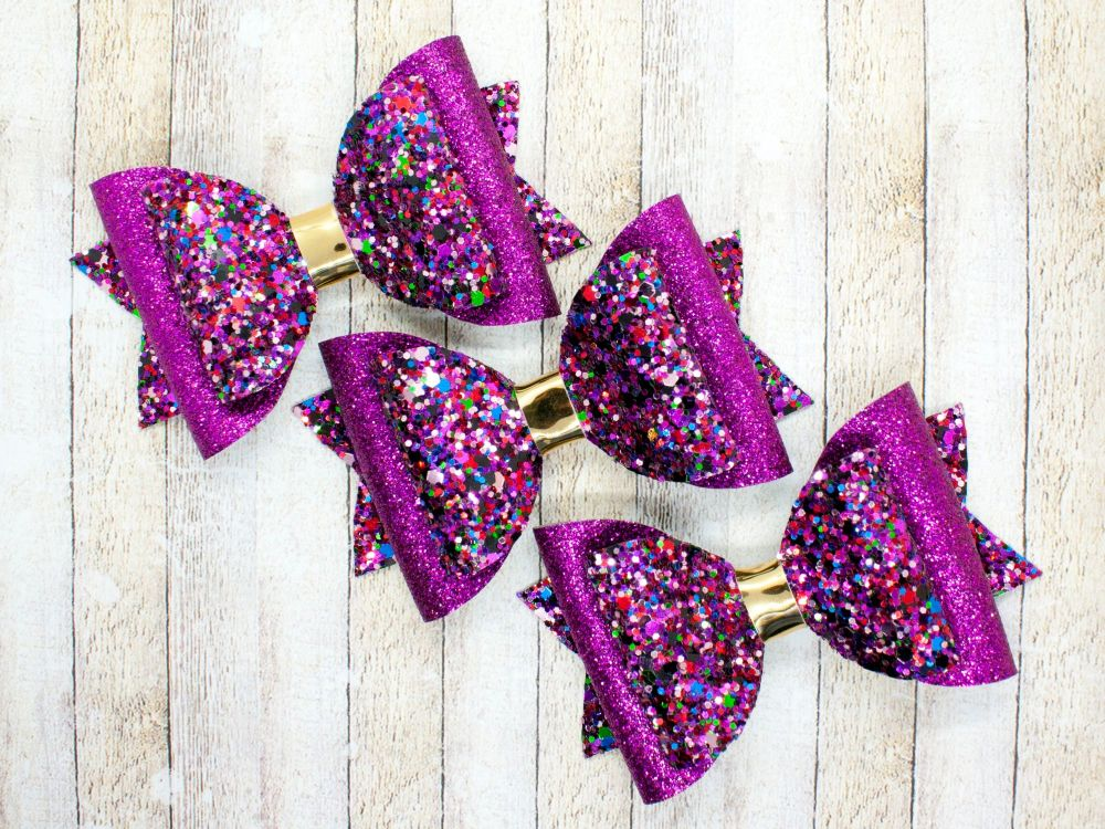 Jewelled Gems Glitter Bow