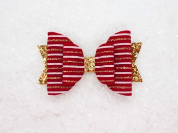 Christmas Velvet Stripe Bow