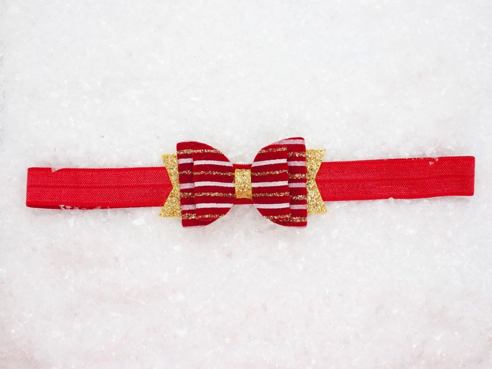 Beautiful Velvet Christmas Baby Bow