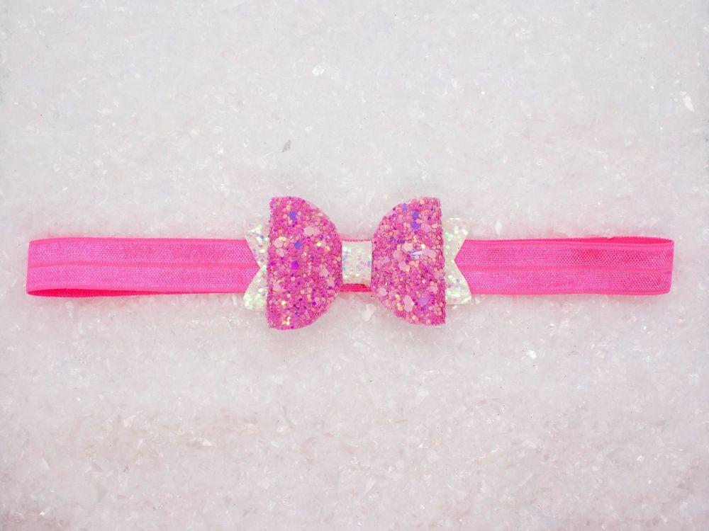 Fairy Dust – Sparkly  Glitter Baby Bow
