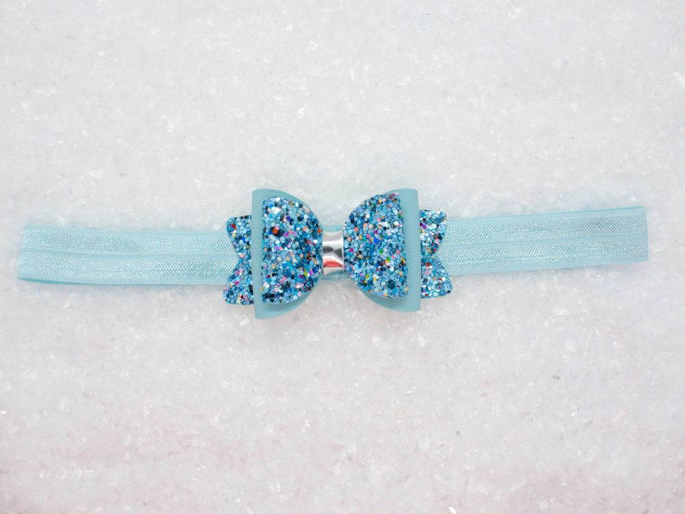 Icy Sparkle Baby Bow