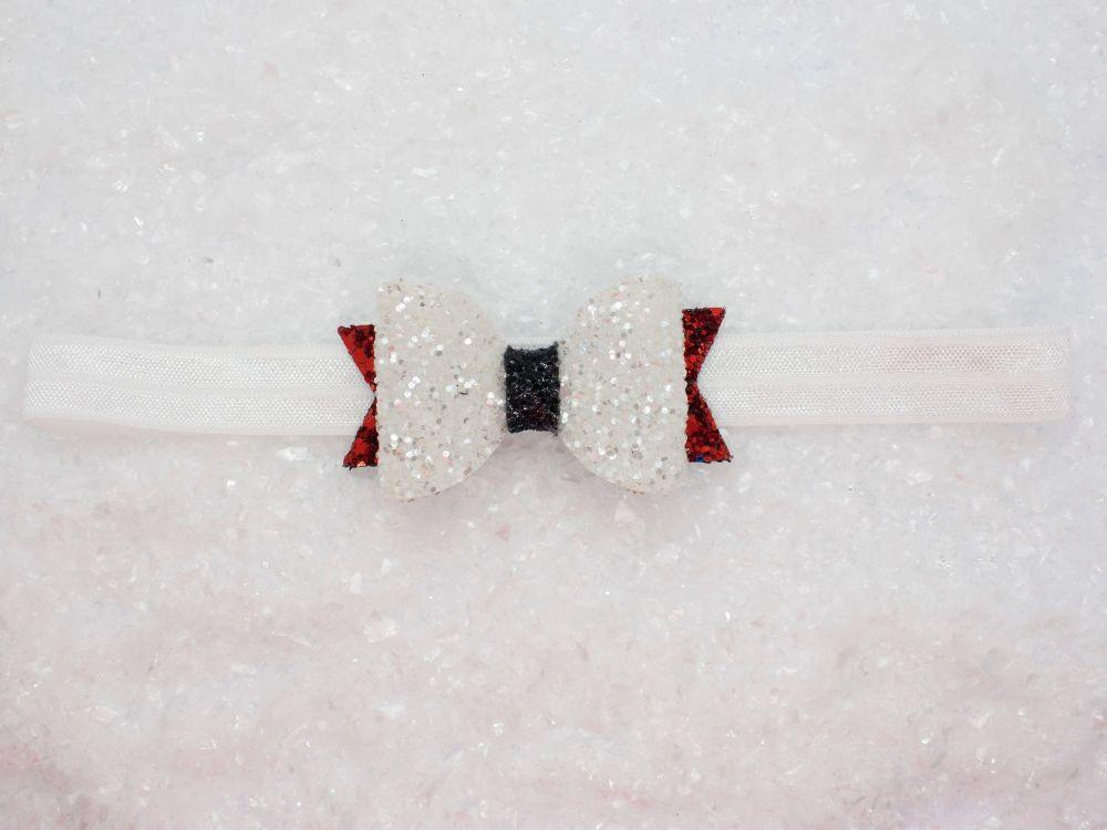 Santa inspired baby bow