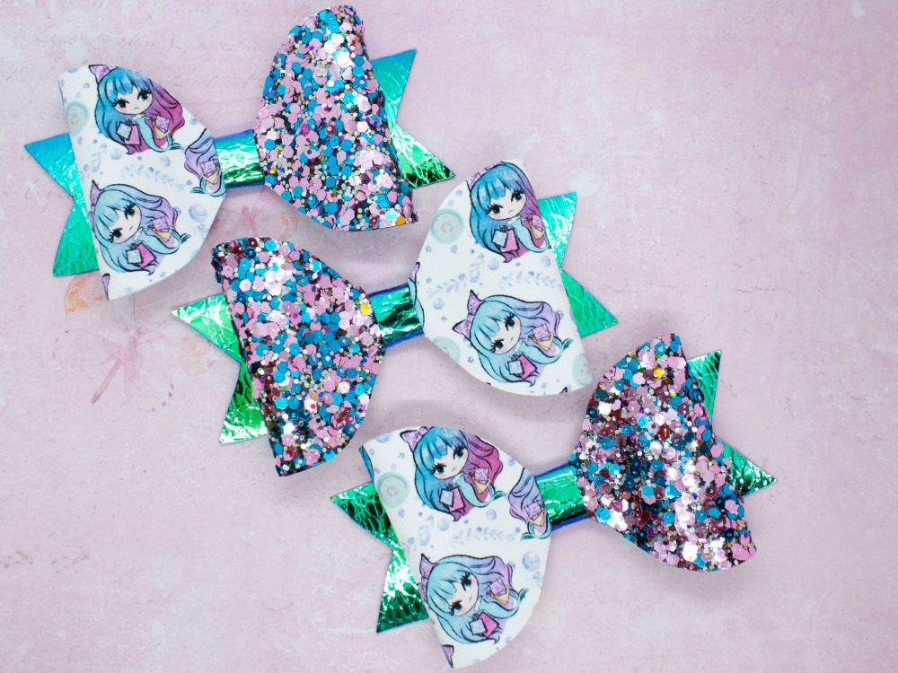 Mermaid Girls Bow