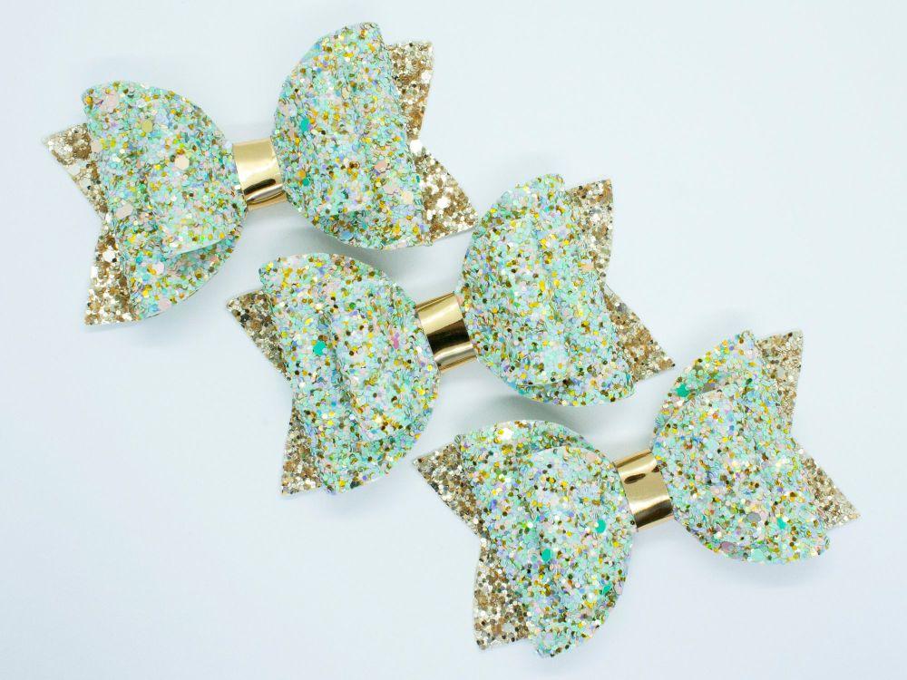 Faberge Egg Glitter Bow