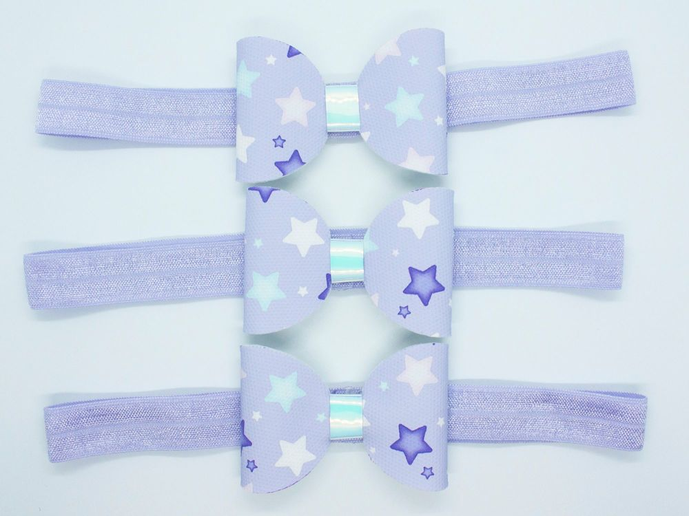 Lovely Lilac Star Baby Bow