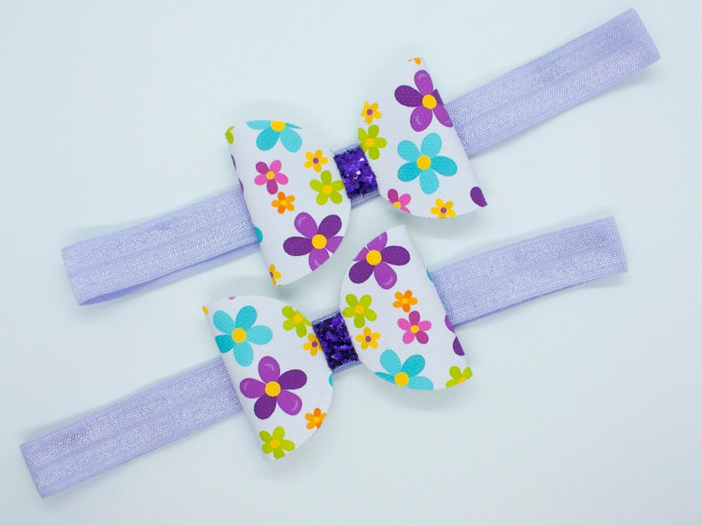 Flower Power Baby Bow