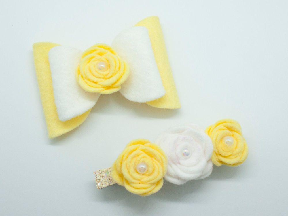 Fabulous Felt Set – Yellow & White – Tenner Thursday