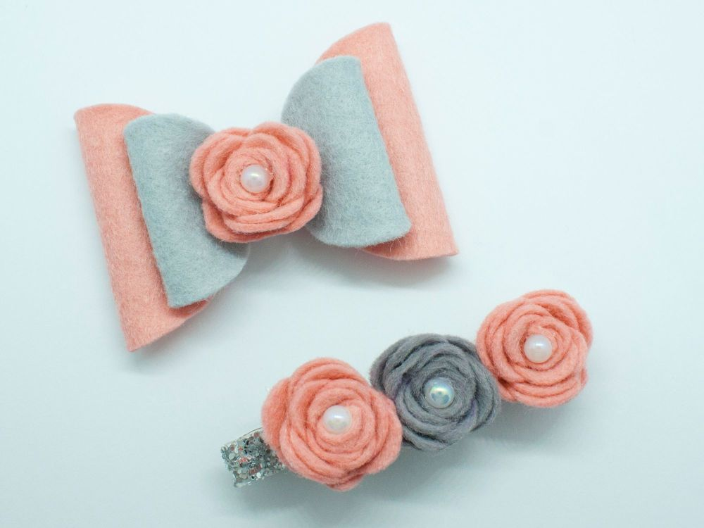 Fabulous Felt Set – Grey & Antique Pink– Tenner Thursday