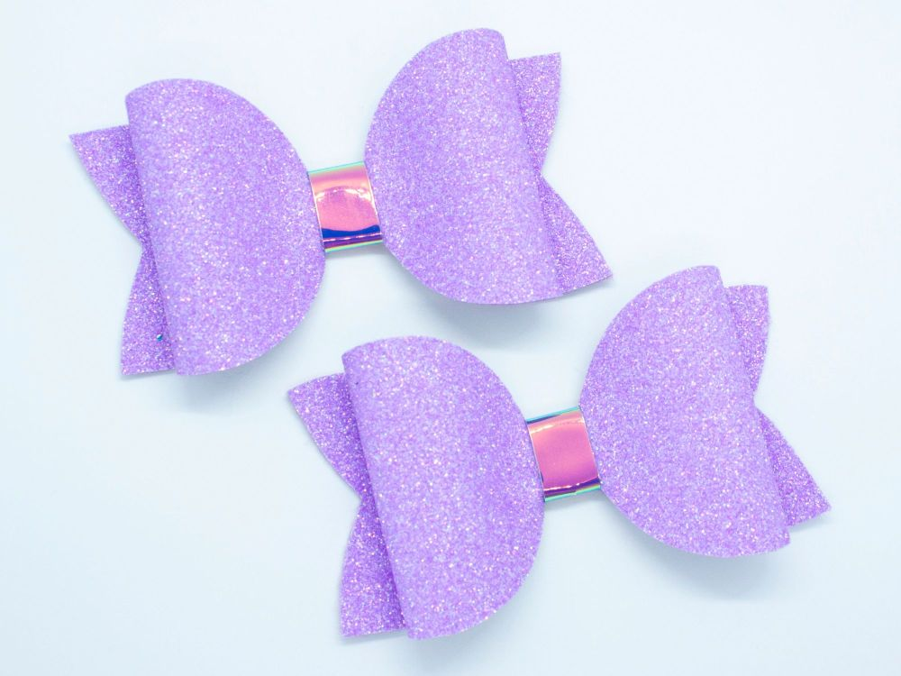 Bright Summer Neon Bow Collection – Purple