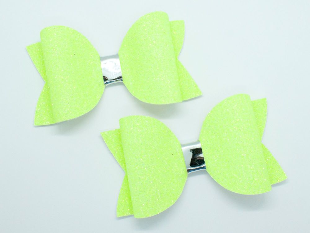 Bright Summer Neon Bow Collection – Yellow