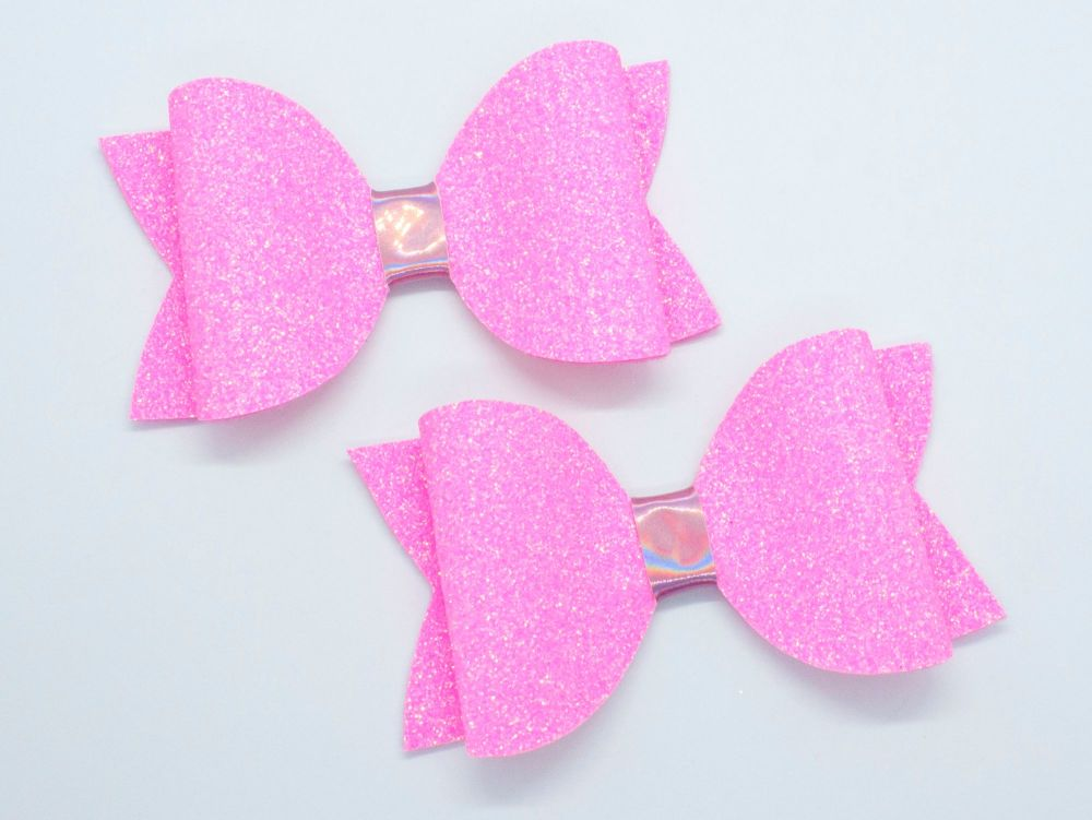 Bright Summer Neon Bow Collection – Pink