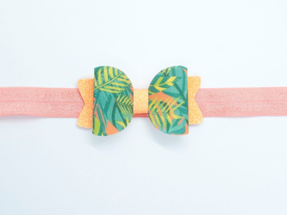 Totally Tropical Small Bow - On Headband or Clip