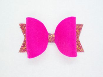 Fabulous Felt Collection Hot Pink 100% Wool Felt Bow