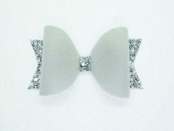 Fabulous Felt Collection Grey 100% Wool Felt Bow