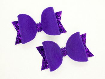 Fabulous Felt Collection Purple 100% Wool Felt small bows
