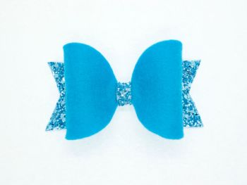 Fabulous Felt Collection Blue 100% Wool Felt Bow