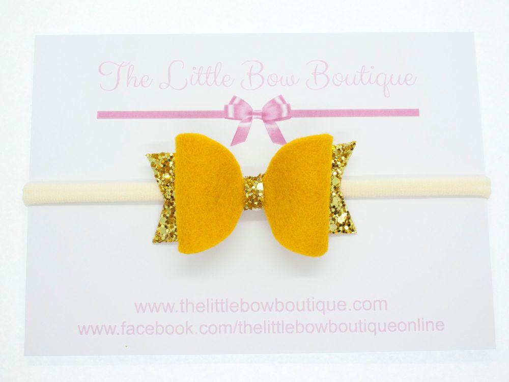 Fabulous Felt Collection Mustard Headband Bow