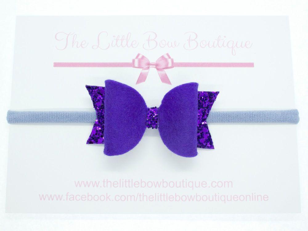 Fabulous Felt Collection Purple Headband Bow