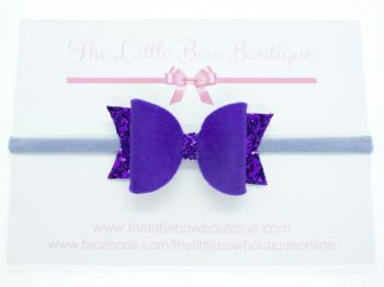 Fabulous Felt Collection Purple Headband Bow