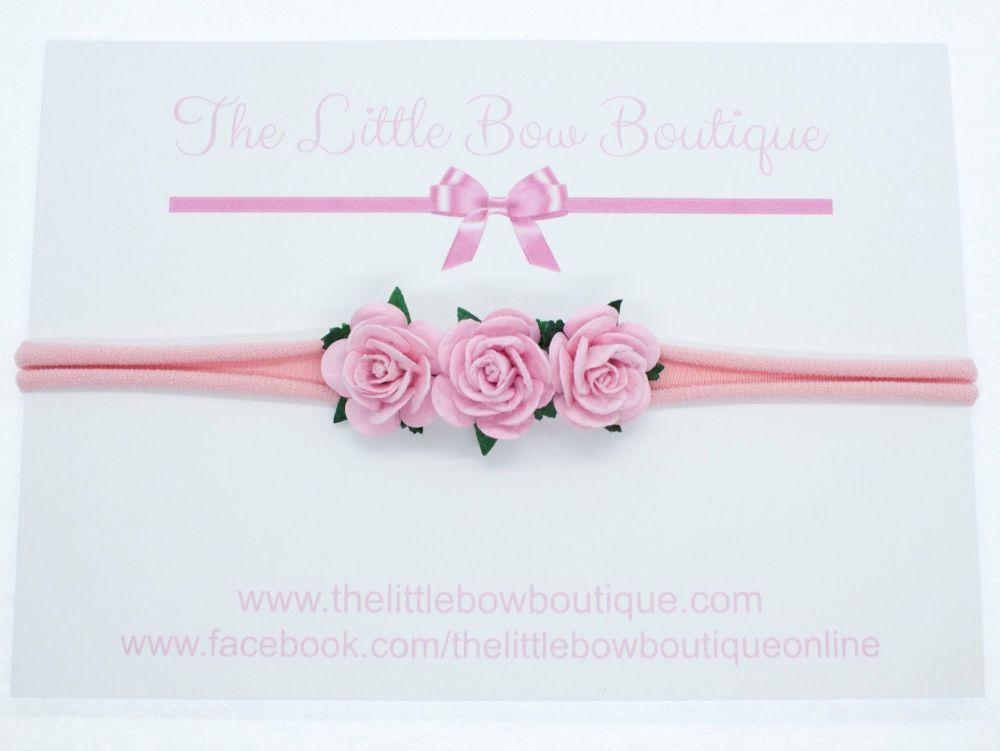 Adorable Little Flower Headband Pink