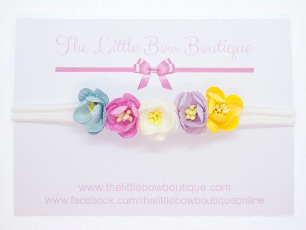 Adorable Little Flower Headband Pastels